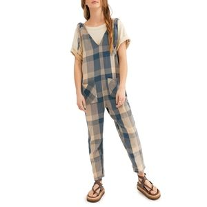Free People// Don't you want this checked jumpsuit